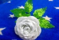 Роза из сатина