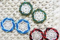 Три пары простых уичольских серег