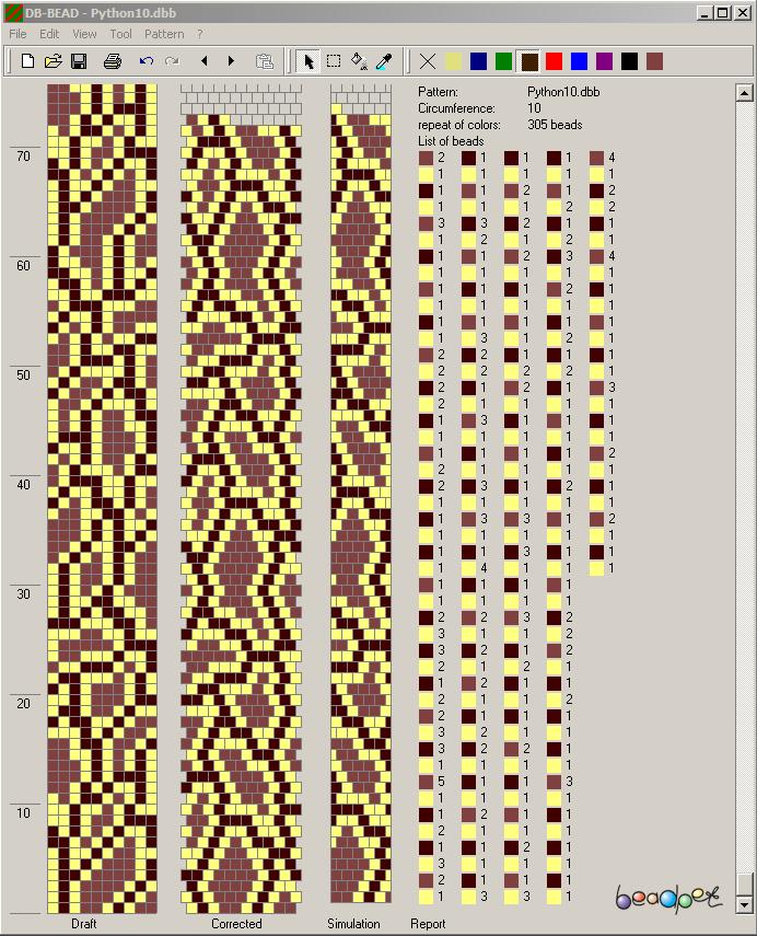 Схема питон на 12 бисерин