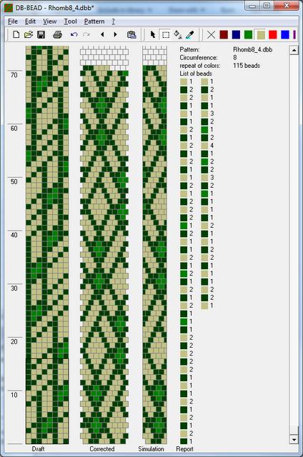 Как связать бисерный шнур на увеличение бисеринок
