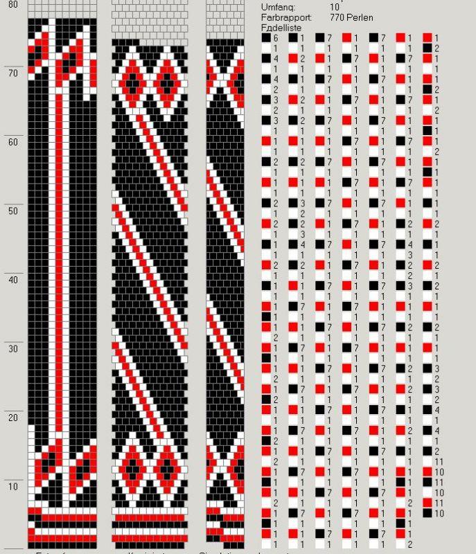 Жгут из бисера схемы узоров без крючка