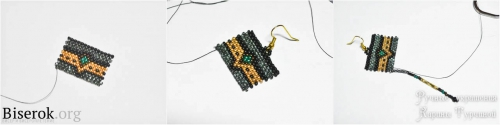 Пошаговые фото с пояснениями, плетем стильные серьги из бисера своими руками, схема мастер-класс