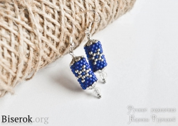 вязание с бисером серьги из бисера своими руками вязаные серьги со снежинками мастер-класс, схема бисерного жгута со снежинками