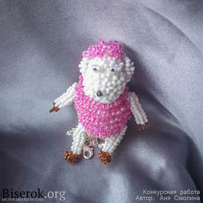 Сплести из бисера овечку для новичка