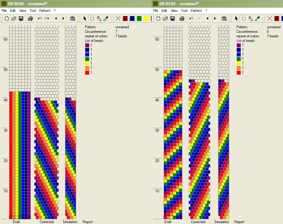 Схема вязания жгута из бисера