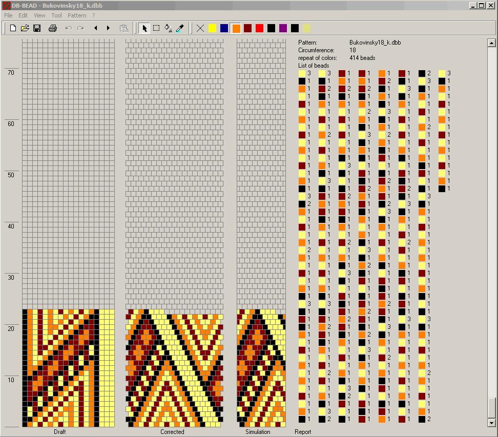 Образцы схем для бисероплетения