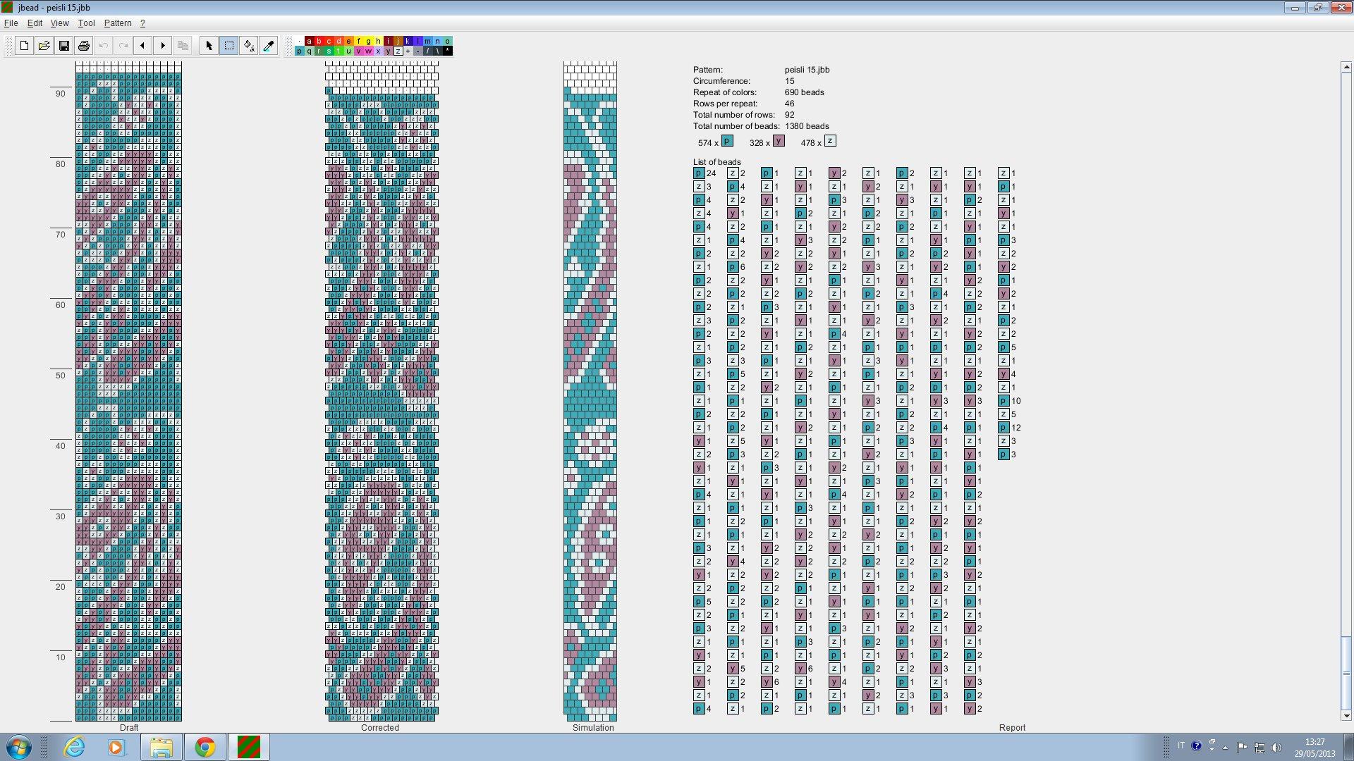 Схема жгут из бисера на 8 бисерин схемы