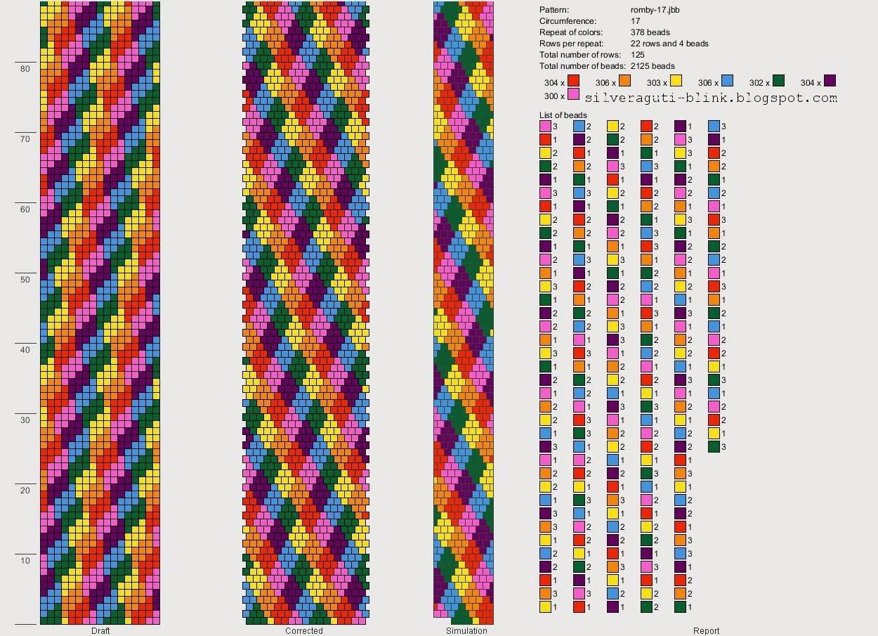 Геометрические браслеты из бисера схемы