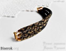 Стильный трехрядный браслет с градиентом, вяжем стильный браслет