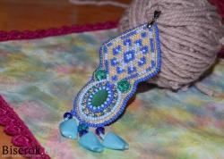 голубой кулон