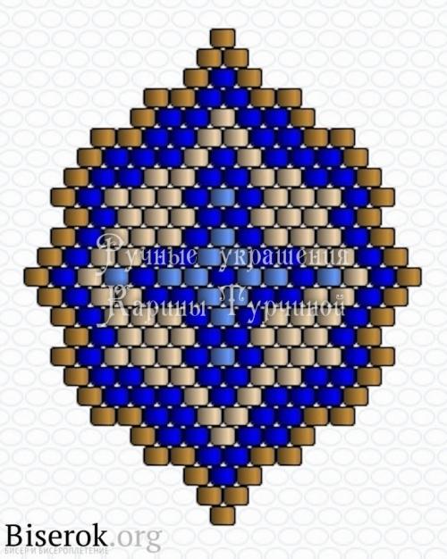 схема небольших сережек кирпичным плетением, этнические серьги
