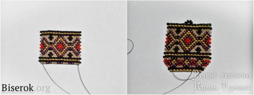 плетение сережек из бисера, схема, мозаика, кирпичное плетение, мастер-класс