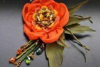 Цветок из шифона «Tropical tenderness»