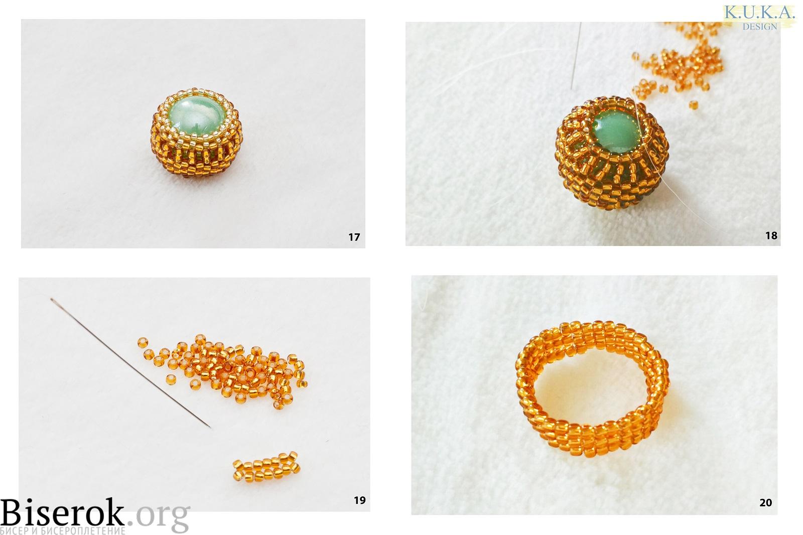 Схемы плетения колец из бисера фото