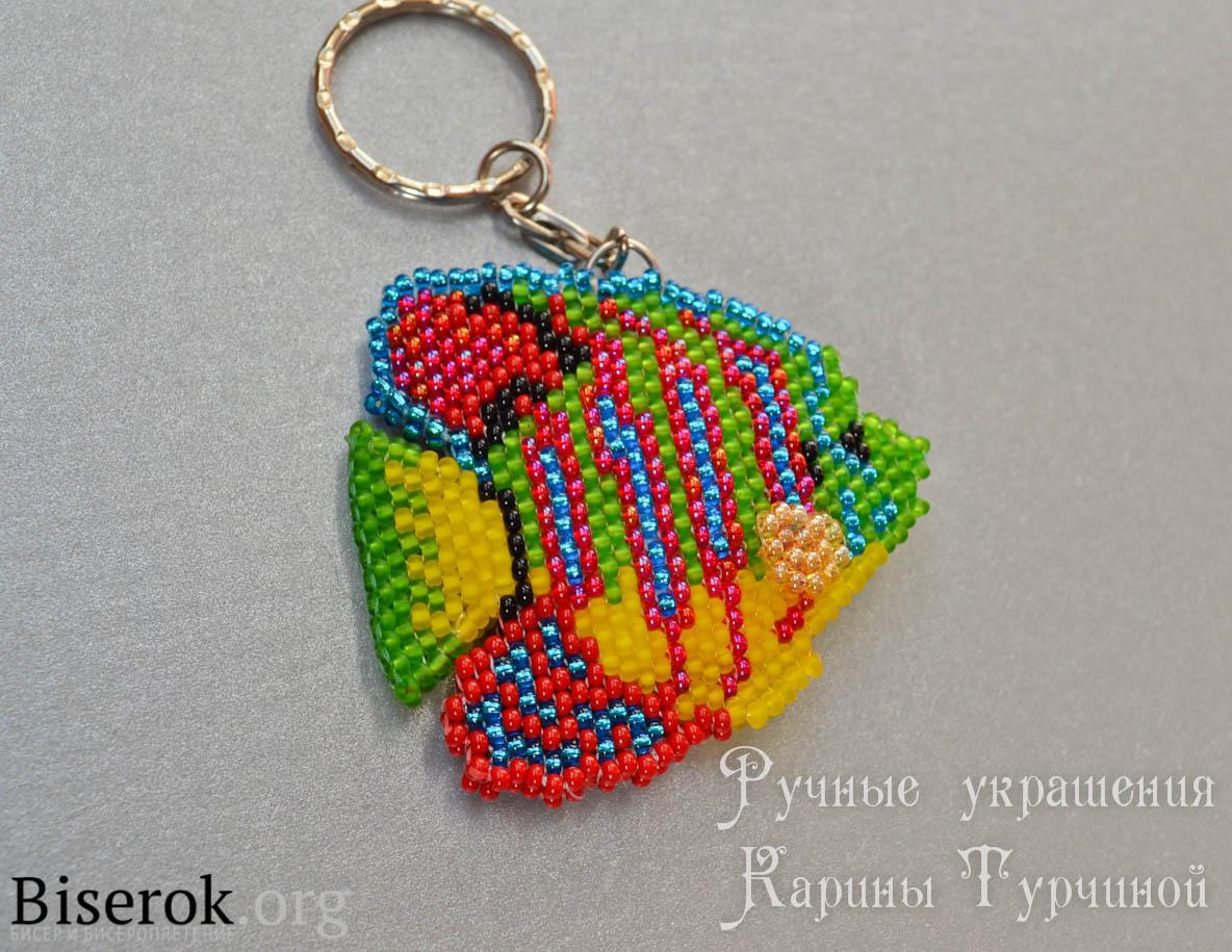 Плетение бисером на леске брелки схема