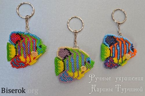 Рыбка-ангел из бисера схема, схема брелка кирпичным плетением, мастер класс по рыбе из бисера