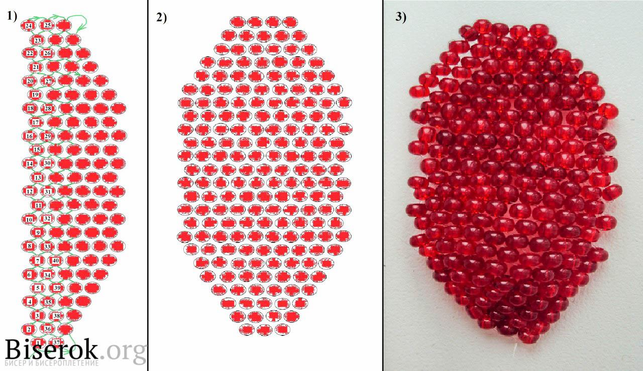 схема вязания цветка из 6 лепестков