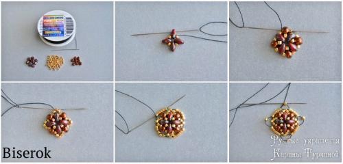 обниматель для бусины плетеный схема, плетем обниматель из супердуо