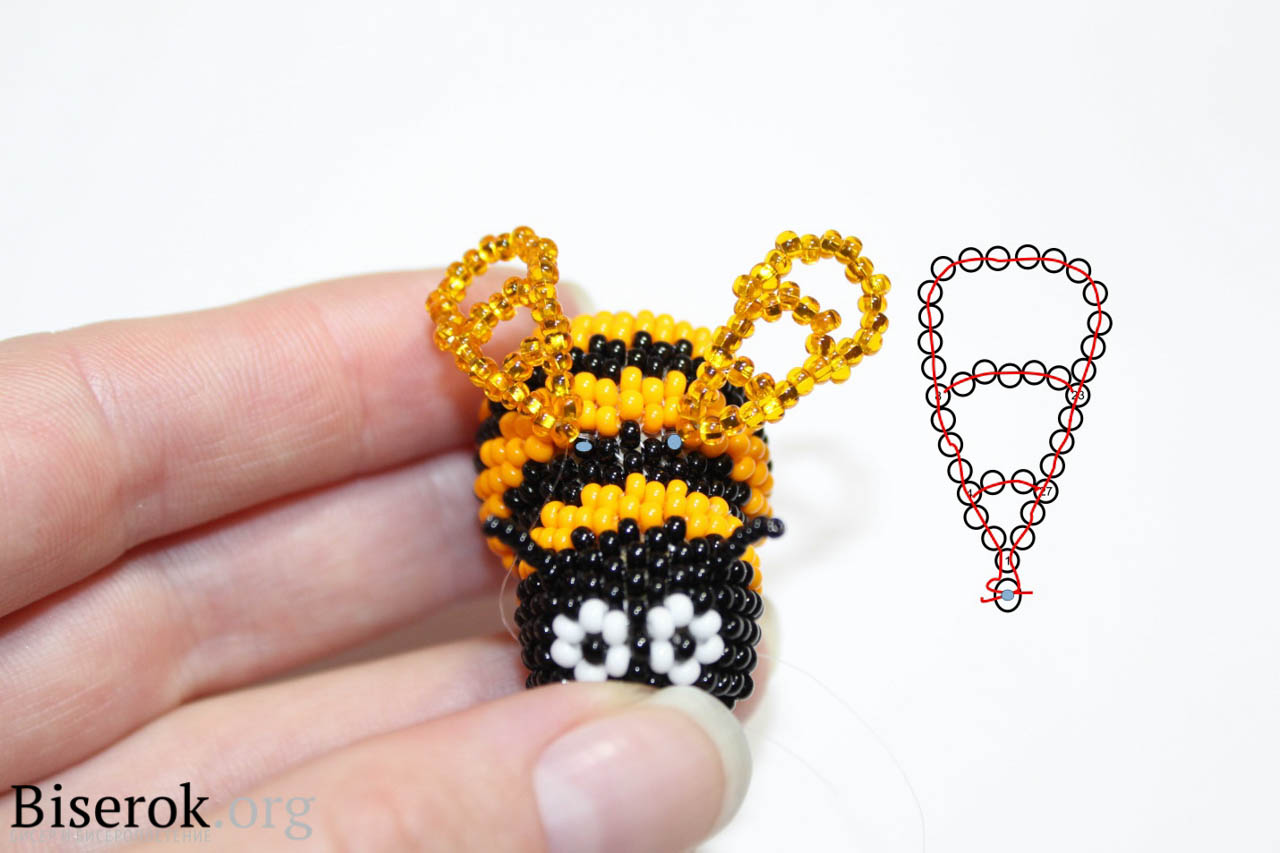 Пчелка из бисера схемы