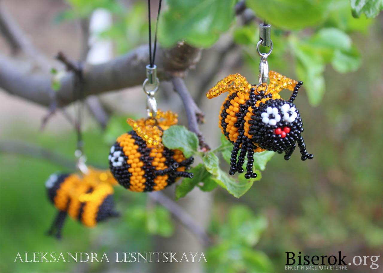 Пчелка из бисера мастер класс с пошаговым фото