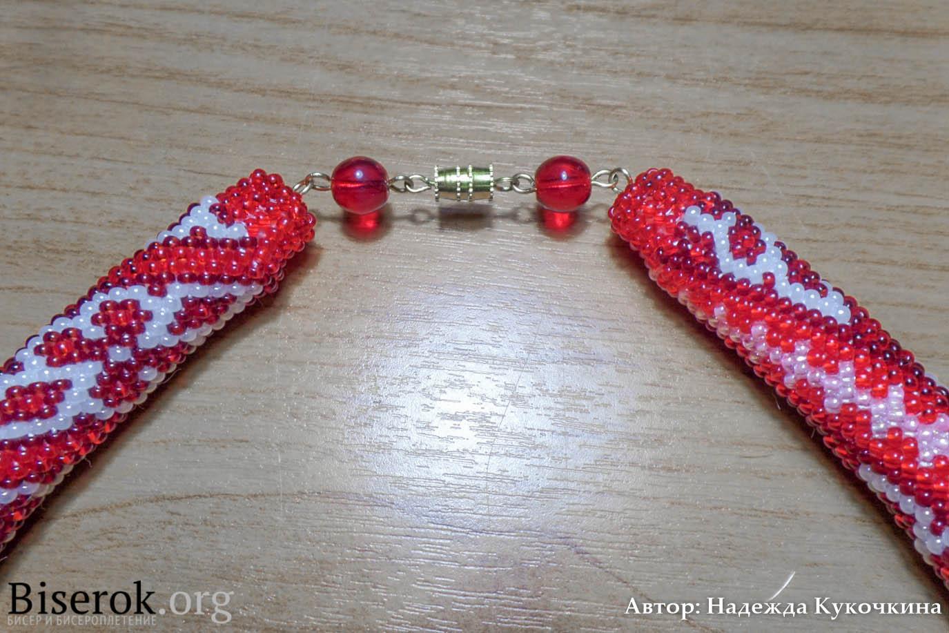 Концевик для жгута из бисера своими руками