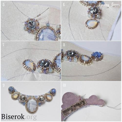 вышиваем ожерелье