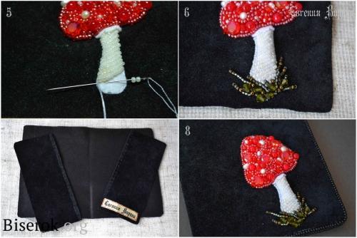 вышивка мухомора