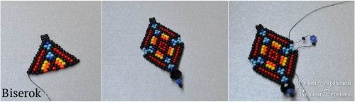 пошаговая иструкция по плетению стильных сережек из бисера в этническом стиле