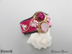 браслет розовый