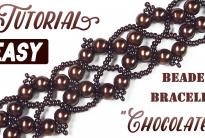 Ретро браслет из бисера «Шоколад»