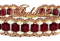 Браслет «Царство» из бисера SuperDuo & Tile beads