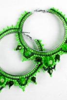 Яркие сережки «Зеленый чай»