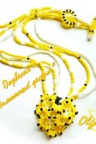 Кулон и сережки «Лимонный десерт»