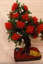 Видео изготовления дерева из бисера «Дионис»